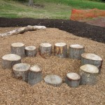 Natural play area with stumps. Source: play-scapes.com