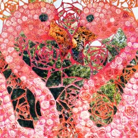 Patterson Park Flamingo Mitote mosaic by Stefanie Distafano