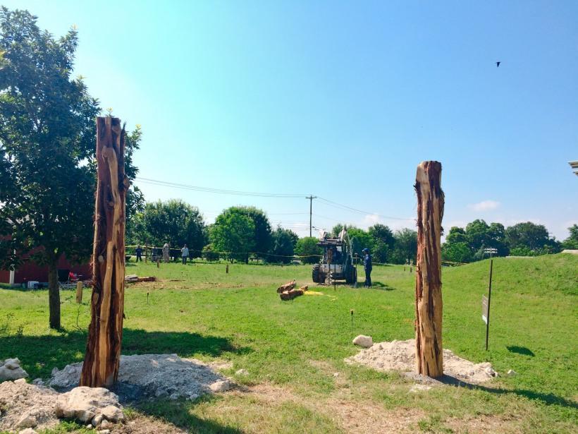 Patterson Park Communit Garden fence work