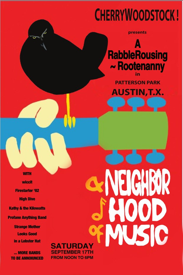 Cherrywoodstock Music Festival Poster