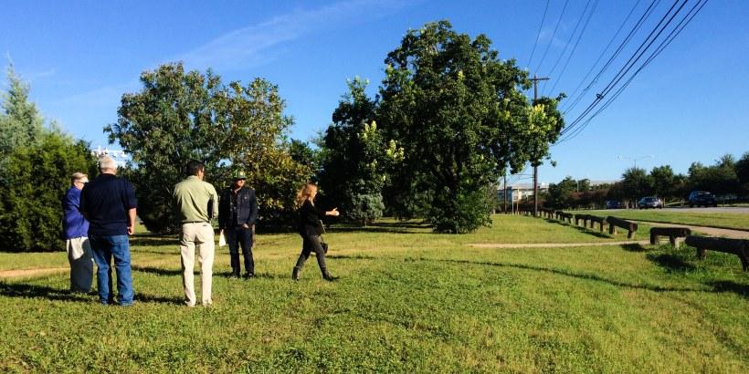 Meeting at Patterson Park. Photo by Jennifer Potter-Miller.