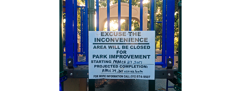 Patterson playground closing