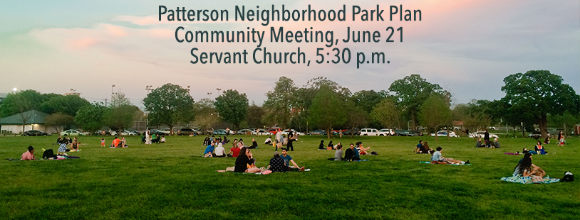 Patterson park plan mtg June 21