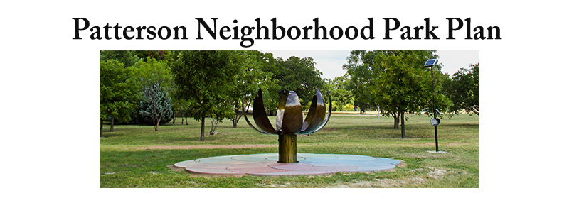 Patterson Neighborhood Park Plan