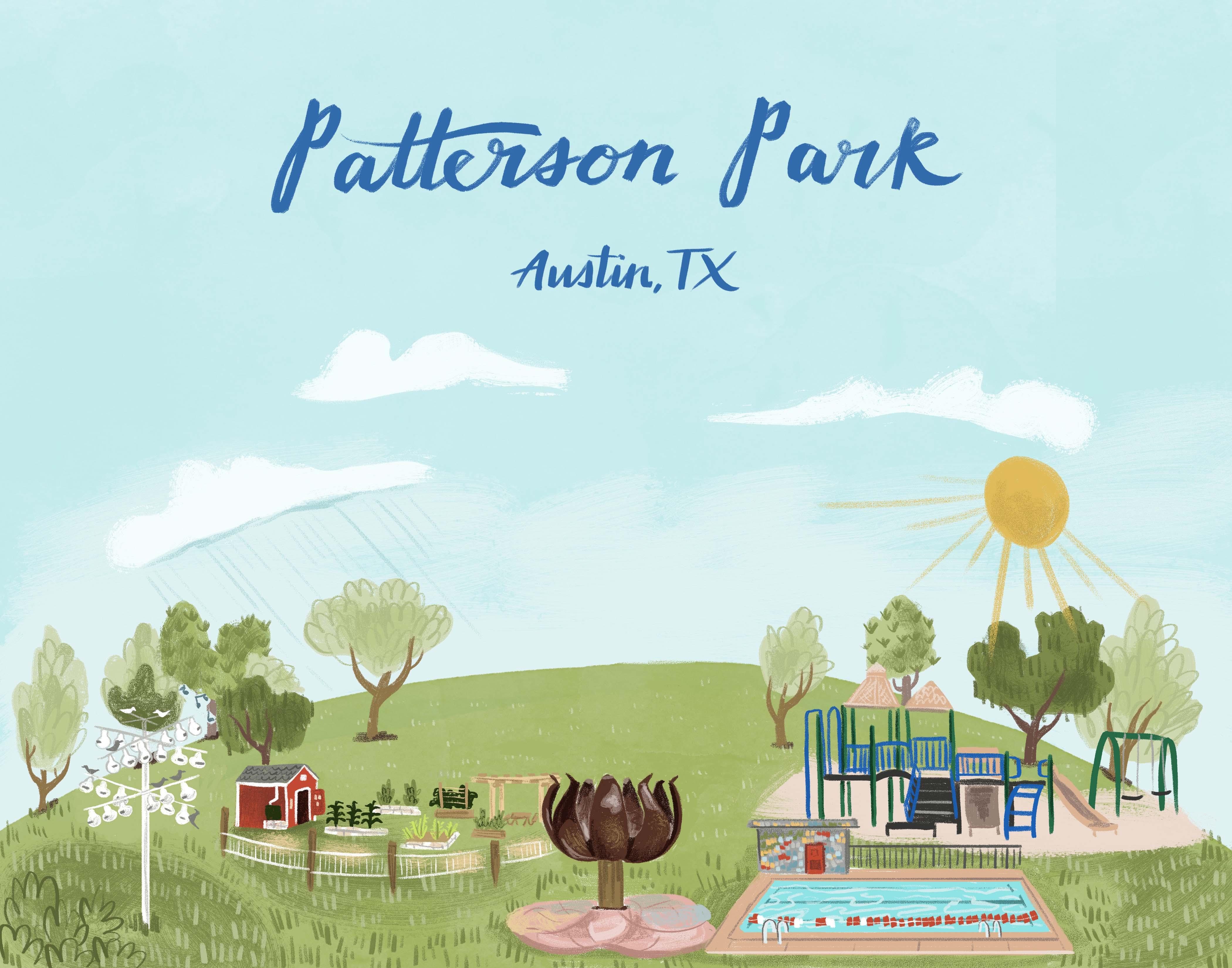 Patterson Park Illustration by Caitlin B. Alexander