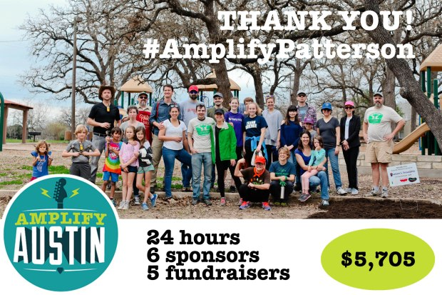 Amplify Patterson 2018 thank you