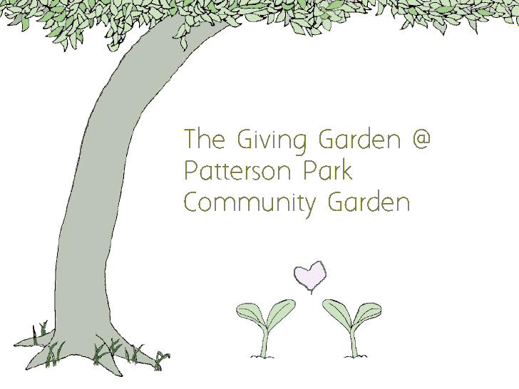 giving garden Patterson Park Community Garden