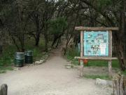Example: Turkey Creek trailhead map + interpretive display informing hikers of the plants and animals one might find