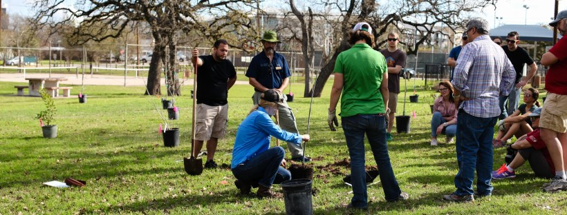 Patterson tree planting, March 2018. Photo by J. Potter-Miller/FoPP.