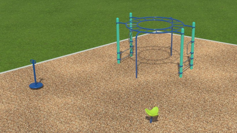 New playground equipment. Source: Whirlix.